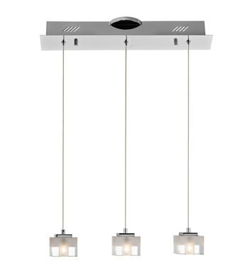 Elan Lighting 83188 Considine™ 3-Light Mini Pendant  in Chrome Finish