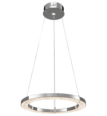 Elan Lighting 83415 Crushed Ice™ Pendant in Chrome Finish