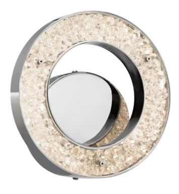 "Elan Lighting 83434 Crushed Ice 1 Light 9 3/4"" LED Circular Wall Sconce with 3200K Color Temperature"