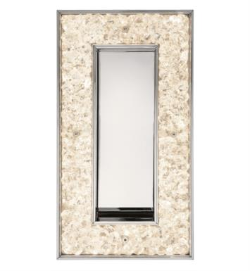 "Elan Lighting 83433 Crushed Ice 1 Light 6 1/2"" LED Rectangular Wall Sconce with 3200K Color Temperature"
