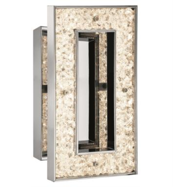 "Elan Lighting 83413 Crushed Ice 1 Light 6 1/2"" LED Rectangular Wall Sconce with 3800K Color Temperature"