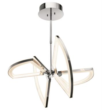 "Elan Lighting 83332 Cykel 5 Light 21 3/4"" LED Pendant in Chrome Finish"