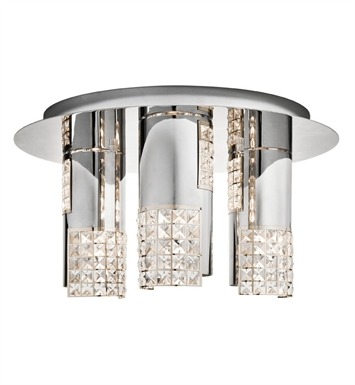 Elan Lighting 83171 Daudet™ Ceiling Flushmount Light in Chrome Finish