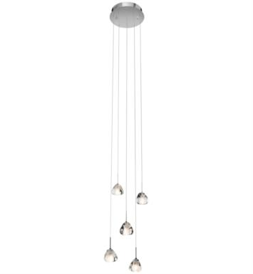 "Elan Lighting 83047 Eisa 5 Light 12 1/4"" Halogen Spiral Mini Pendant Chandelier in Chrome Finish"