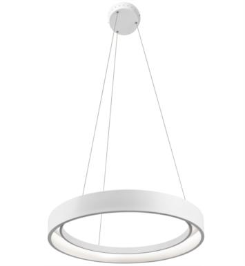 "Elan Lighting 83454 Fornello 1 Light 23 1/2"" LED Ring Pendant in Sand Textured White Finish"