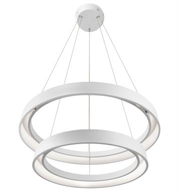 "Elan Lighting 83199 Fornello 2 Light 31 1/2"" LED Ring Pendant in Sand Textured White Finish"