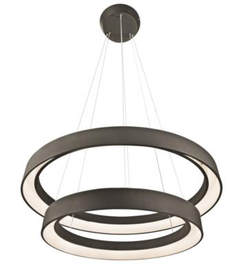 "Elan Lighting 83200 Fornello 2 Light 31 1/2"" LED Ring Pendant in Sand Textured Black Finish"