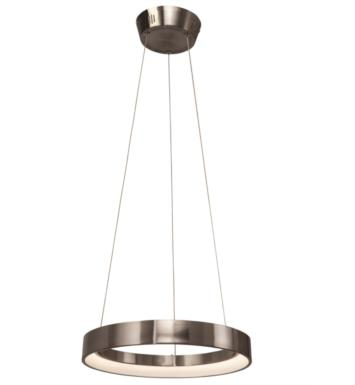 "Elan Lighting 83260 Fornello 1 Light 17 3/4"" LED Ring Pendant in Brushed Nickel Finish"