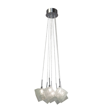 Elan Lighting 83268 Icekubez™ 7-Light Mini Pendant Chandelier in Chrome Finish