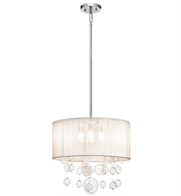 "Elan Lighting 83230 Imbuia 4 Light 18"" Halogen Round Pendant in Chrome Finish"
