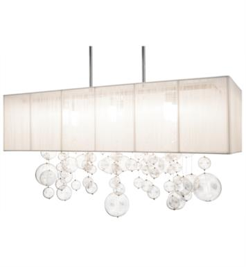 "Elan Lighting 83236 Imbuia 6 Light 32"" Halogen Rectangle Pendant in Chrome Finish"