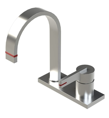 Rubinet 8RRTLMBRD R10 Single Control Bar Faucet With Finish: Main Finish: Matt Black | Accent Finish: Red