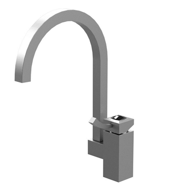 Rubinet 8MICLMBMBJT Ice Single Control Kitchen Faucet With Finish: Main Finish: Matt Black | Accent Finish: Matt Black And Crystal Accent: Black Crystal Accent