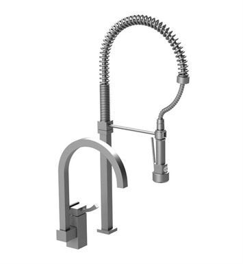 Rubinet 8IMQ1CHCH Matthew Quinn Single Control Kitchen Faucet with Suspended Industrial Spray With Finish: Main Finish: Chrome | Accent Finish: Chrome