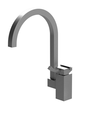 Rubinet 8MMQ1SNPN Matthew Quinn Single Control Kitchen Faucet With Finish: Main Finish: Satin Nickel | Accent Finish: Polished Nickel