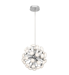 Elan Lighting 83279 Kotton™ Chandelier in Satin Nickel Finish
