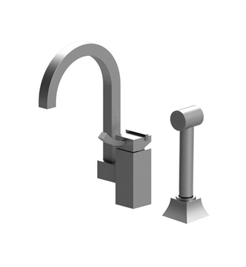 Rubinet 8NMQ1MRSN Matthew Quinn Single Control Bar Faucet with Hand Spray With Finish: Main Finish: Maroon | Accent Finish: Satin Nickel