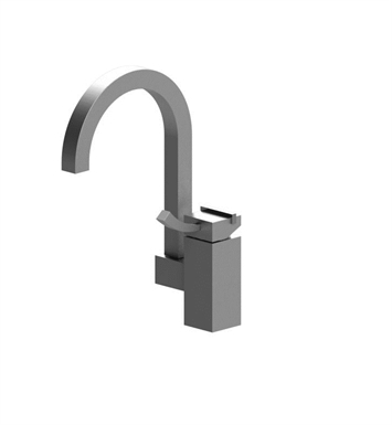 Rubinet 8OMQ1SNCH Matthew Quinn Single Control Bar Faucet With Finish: Main Finish: Satin Nickel | Accent Finish: Chrome