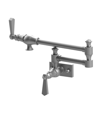 Rubinet 8EHXLSNSN Hexis Wall Mount Pot Filler With Finish: Main Finish: Satin Nickel | Accent Finish: Satin Nickel