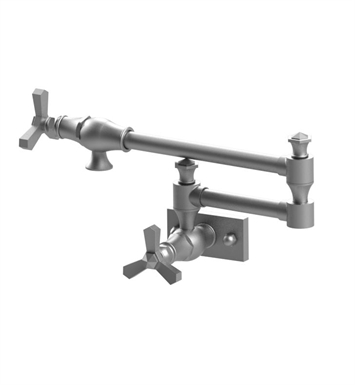 Rubinet 8EHXCSNBK Hexis Wall Mount Pot Filler With Finish: Main Finish: Satin Nickel | Accent Finish: Black
