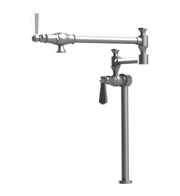 Rubinet 8HHXLSCSC Hexis Deck Mount Pot Filler With Finish: Main Finish: Satin Chrome | Accent Finish: Satin Chrome