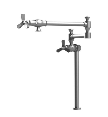Rubinet 8HHXCCHCH Hexis Deck Mount Pot Filler With Finish: Main Finish: Chrome | Accent Finish: Chrome