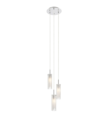 Elan Lighting 83066 Krysalis™ 3-Light Mini Pendant Chandelier in Chrome Finish