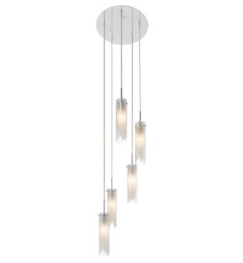 "Elan Lighting 83067 Krysalis 5 Light 15 1/4"" Incandescent Mini Pendant Chandelier in Chrome Finish"
