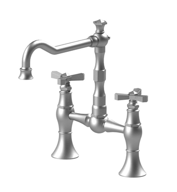 Rubinet 8VHXCBBBB Hexis Kitchen Bridge Faucet With Finish: Main Finish: Bright Brass | Accent Finish: Bright Brass