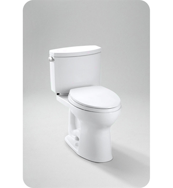 TOTO CST454CEFG#11 Drake II Two Piece Toilet, 1.28 GPF SanaGloss® With Finish: Colonial White