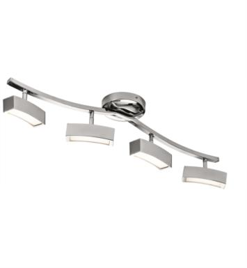 "Elan Lighting 83381 Landon 4 Light 32 3/4"" LED Linear Rail Light in Chrome Finish"