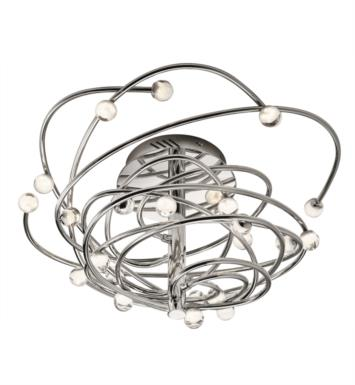 "Elan Lighting 83368 Lexiko 24 Light 24"" LED Convertible Semi-Flush Mount/Pendant in Chrome Finish"