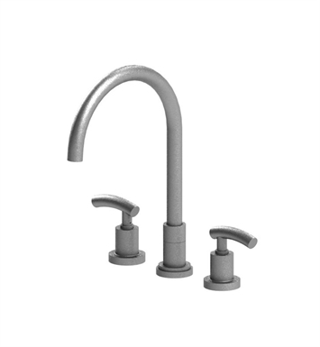 Rubinet 8AHOLBKBK H2O Widespread Kitchen Faucet With Finish: Main Finish: Black | Accent Finish: Black