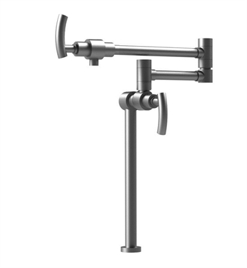 Rubinet 8HHORCHBK H2O Deck Mount Pot Filler With Finish: Main Finish: Chrome | Accent Finish: Black