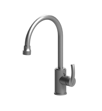 Rubinet 8JHMLMBSN H2O Single Hole Single Control Mini Kitchen Faucet with Retractable Dual Function Spray With Finish: Main Finish: Matt Black | Accent Finish: Satin Nickel
