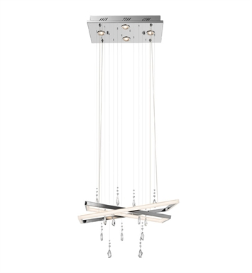 Elan Lighting 83449 Maze™ Chandelier in Chrome Finish