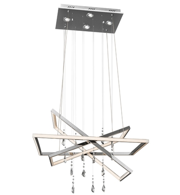 Elan Lighting 83450 Maze™ Chandelier in Chrome Finish