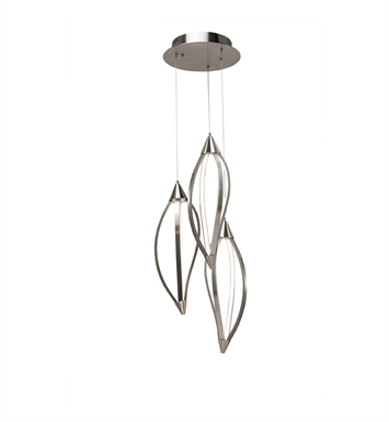 Elan Lighting 83393 Meridian™ 3-Light Pendant in Brushed Nickel Finish