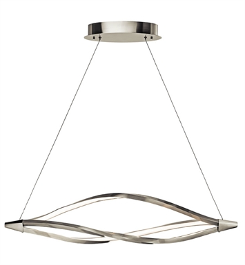 Elan Lighting 83391 Meridian™ Linear Pendant in Brushed Nickel Finish