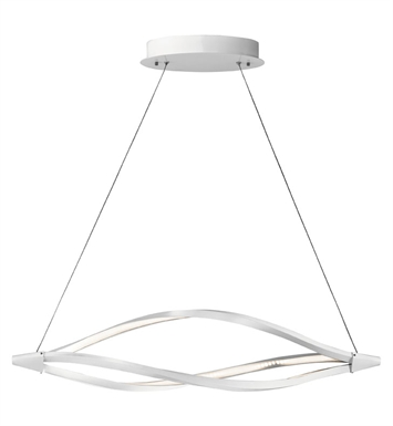 Elan Lighting 83359 Meridian™ Linear Pendant in White Finish