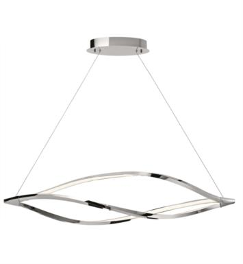 "Elan Lighting 83385 Meridian 1 Light 53 1/4"" LED Linear Pendant in Chrome Finish"