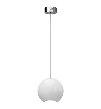 Elan Lighting 83314 Minn™ Pendant in Chrome and White Finish