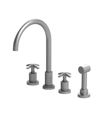 Rubinet 8BLACSNSN LaSalle Widespread Kitchen Faucet with Hand Spray With Finish: Main Finish: Satin Nickel | Accent Finish: Satin Nickel
