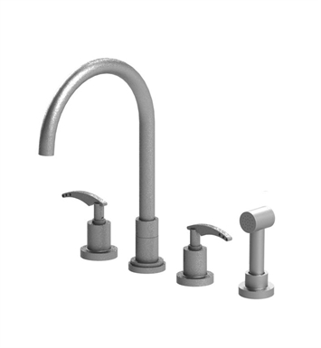 Rubinet 8BLALMBMB LaSalle Widespread Kitchen Faucet with Hand Spray With Finish: Main Finish: Matt Black | Accent Finish: Matt Black