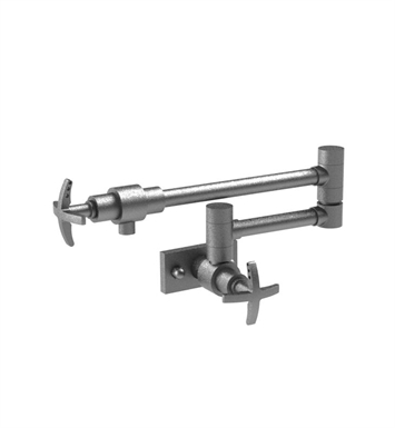 Rubinet 8ELACSNSN LaSalle Wall Mount Pot Filler With Finish: Main Finish: Satin Nickel | Accent Finish: Satin Nickel
