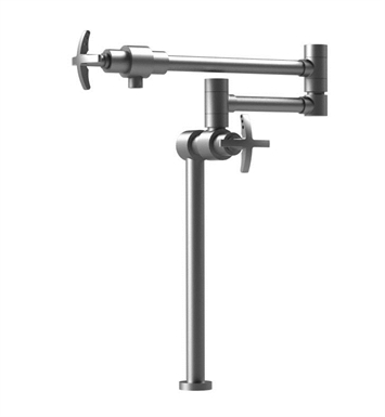 Rubinet 8HLACSNSN LaSalle Deck Mount Pot Filler With Finish: Main Finish: Satin Nickel | Accent Finish: Satin Nickel