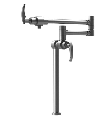 Rubinet 8HLALCHCH LaSalle Deck Mount Pot Filler With Finish: Main Finish: Chrome | Accent Finish: Chrome