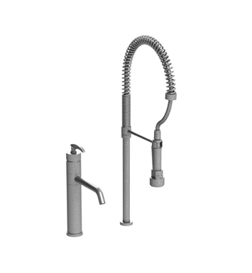 Rubinet 8ILALSCSC LaSalle Single Control Kitchen Faucet with Suspended Industrial Spray With Finish: Main Finish: Satin Chrome | Accent Finish: Satin Chrome