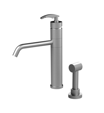 Rubinet 8LLALSNSN LaSalle Single Control Kitchen Faucet with Hand Spray With Finish: Main Finish: Satin Nickel | Accent Finish: Satin Nickel