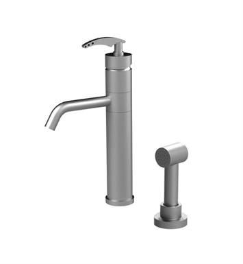 Rubinet 8NLALSNSN LaSalle Single Control Bar Faucet with Hand Spray With Finish: Main Finish: Satin Nickel | Accent Finish: Satin Nickel